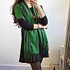 Женский шарф палантин длинный кашемировый, зеленый, опт