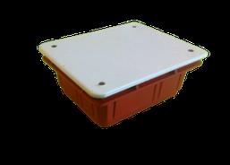 Коробка (ДОЗА) распаячна 92х92х45 посилена оранж.вбудована (мин.видаємо 10шт) (037)