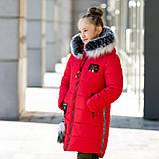 """Практичная зимняя курточка для девочки с мехом""""Суприна"""", фото 4"""