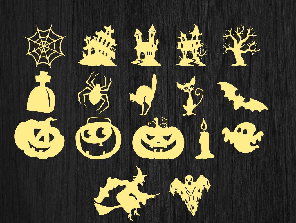 Деревянные заготовки, заготовки из дерева, из фанеры для декупажа на хеллоуин, Halloween