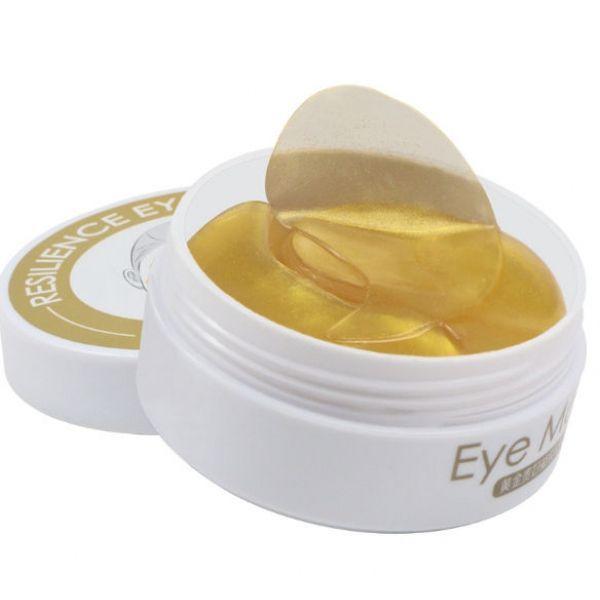 Гидрогелевые патчи для глаз Ezilu   Golgen Collagen с экстрактами цветов портулака, плодов абрикоса и корня пиона 60 шт