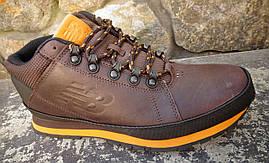 Кроссовки зимние H754BY мужские (кожаные) оригинал, фото 3