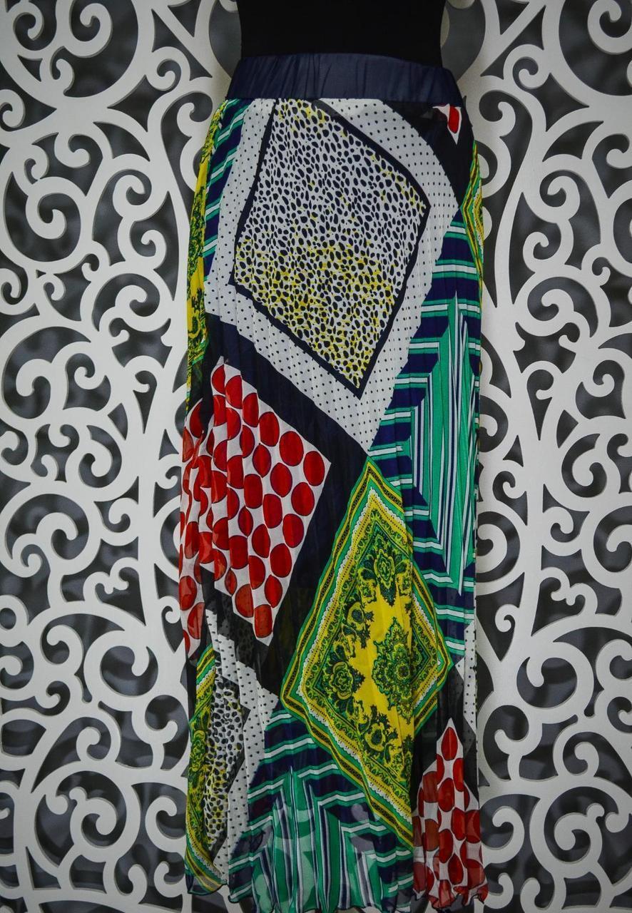 """Стильная женский юбка ткань """"Шифон на подкладке"""" 44 размер норма"""