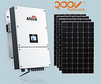 """Комплект """"Солнечные панели + инвертор"""" для сетевой станции на 20кВт (3 фазы)."""