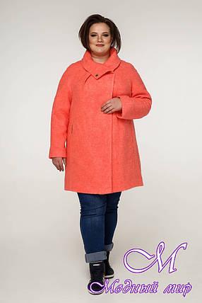 Женское демисезонное пальто больших размеров (р. 54-68) арт. 12-08, фото 2