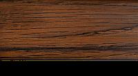 Плинтус с кабель каналом с прорезиненными краями 56х18мм 2,5м Тис орех