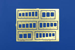 Шаблон для нанесения расшивки на модель. Прямоугольники и квадраты. EDUARD 00002