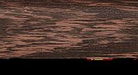 Плинтус с кабель каналом с прорезиненными краями 56х18мм 2,5м Тис венге