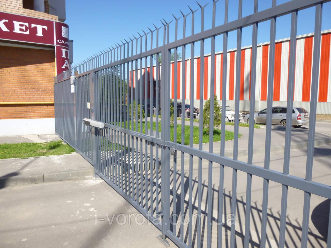 Автоматические распашные ворота 3600 на 2300 (дизайн решетка)