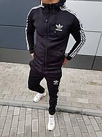 Спортивный костюм ЗИМНИЙ мужской Adidas Originals X-black / Кофта + штаны