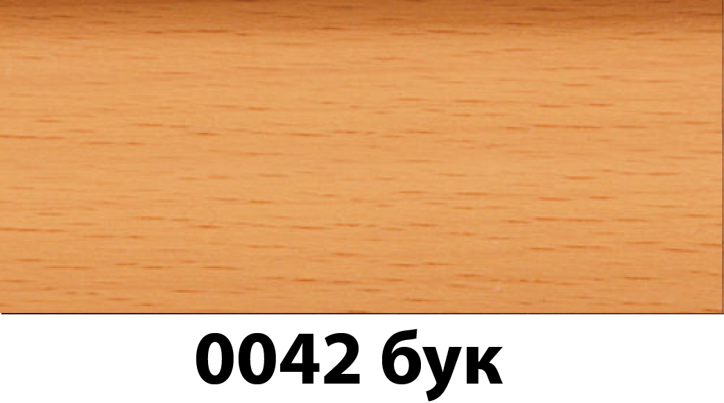Плинтус с кабель каналом с прорезиненными краями 56х18мм 2,5м Тис бук