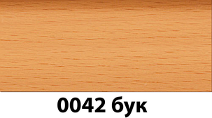 Плинтус с кабель каналом с прорезиненными краями 56х18мм 2,5м Тис бук, фото 2