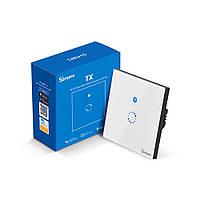 Sonoff TX-T4 WiFi Сенсорный Настенный Выключатель c таймером, подсветкой для двух проводов (без нейтрали) EU
