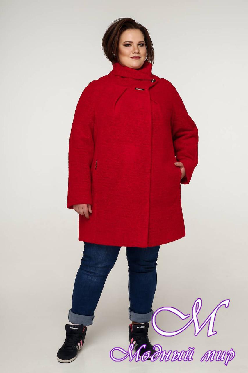 Демисезонное женское пальто больших размеров (р. 54-68) арт. 12-08