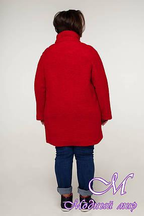 Демисезонное женское пальто больших размеров (р. 54-68) арт. 12-08, фото 2