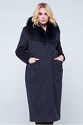 Пальто женское зимнее Нана   48-56р. натуральный мех