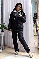 Женский зимний костюм брюки и куртка, большого размера