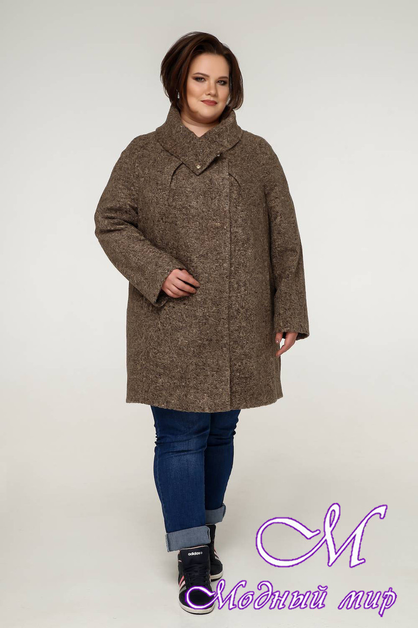 Пальто женское больших размеров осень весна (р. 54-68) арт. 12-08
