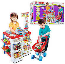 """Детский игровой набор """"Супермаркет"""" (668-01) с кассой, тележкой и сканером, световые и звуковые эффекты"""