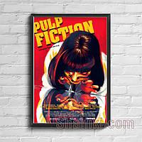 """""""Мия Уоллес Pulp Fiction (Криминальное чтиво)"""" постер на ПВХ с рамой и креплением"""