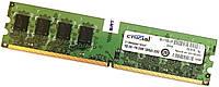 Оперативная память Crucial DDR2 1Gb 667MHz PC2 5300U 1R8/2R8 Б/У MIX, фото 1
