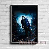 """""""Джокер / Хит Леджер"""" постер на ПВХ с рамой и креплением"""