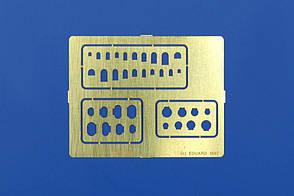 Шаблон для нанесения расшивки на модель. Лючки и крышки. EDUARD 00004
