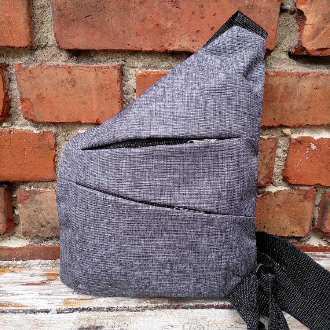 Мужская сумка барсетка  мессенджер четыре отдела