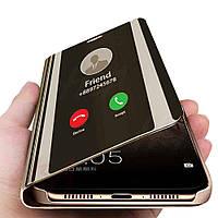 Зеркальный чехол-книжка CLEAR VIEW с функцией подставки для Samsung Galaxy A8 2018 A530F Черный