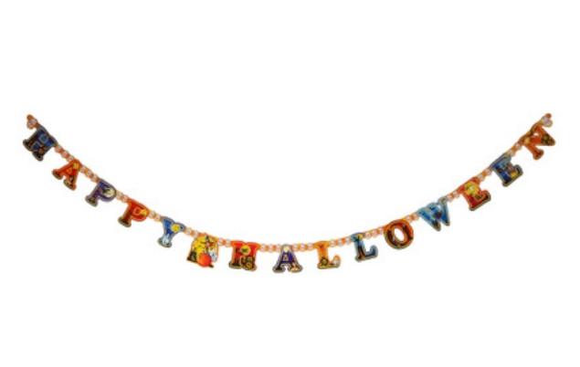 Бумажная гирлянда буквенная Happy Halloween, 2 метра