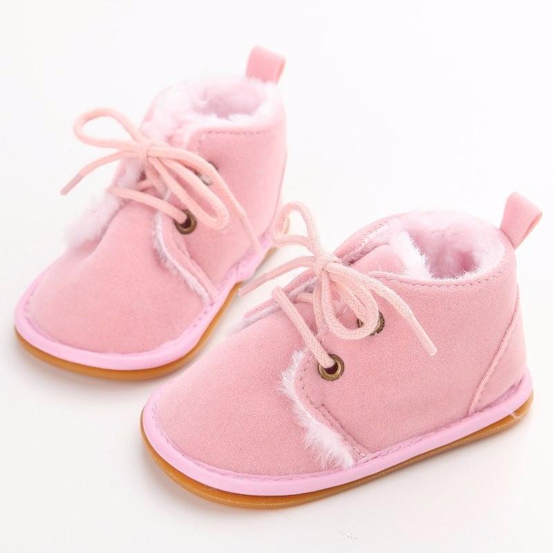 Теплые пинетки-ботиночки 13 см.