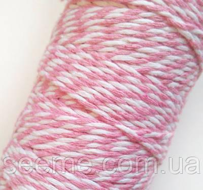 Пекарський шпагат біло-рожевий, 5 метрів