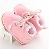 Теплые пинетки-ботиночки 13 см., фото 3