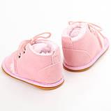 Теплые пинетки-ботиночки 13 см., фото 4