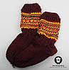 Шерстяные носки, теплые вязаные носочки, подростковые зимние носки, розмер 31-34