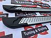 Бічні пороги X5-тип (алюм., коротка база) 2 шт, Renault Trafic, Opel Vivaro, 2001-2014, Erkul ALG223, фото 5