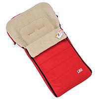 """Зимний конверт чехол для коляски и санок """"STANDART"""" на овчине, с прорезями для ремней. Красный"""