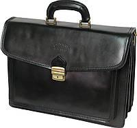 Мужской портфель из кожи Rovicky AWR-3 черный
