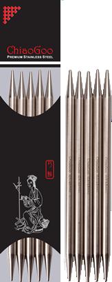 Носочные металлические спицы  ChiaoGoo № 2.25 ,длина 15 см.