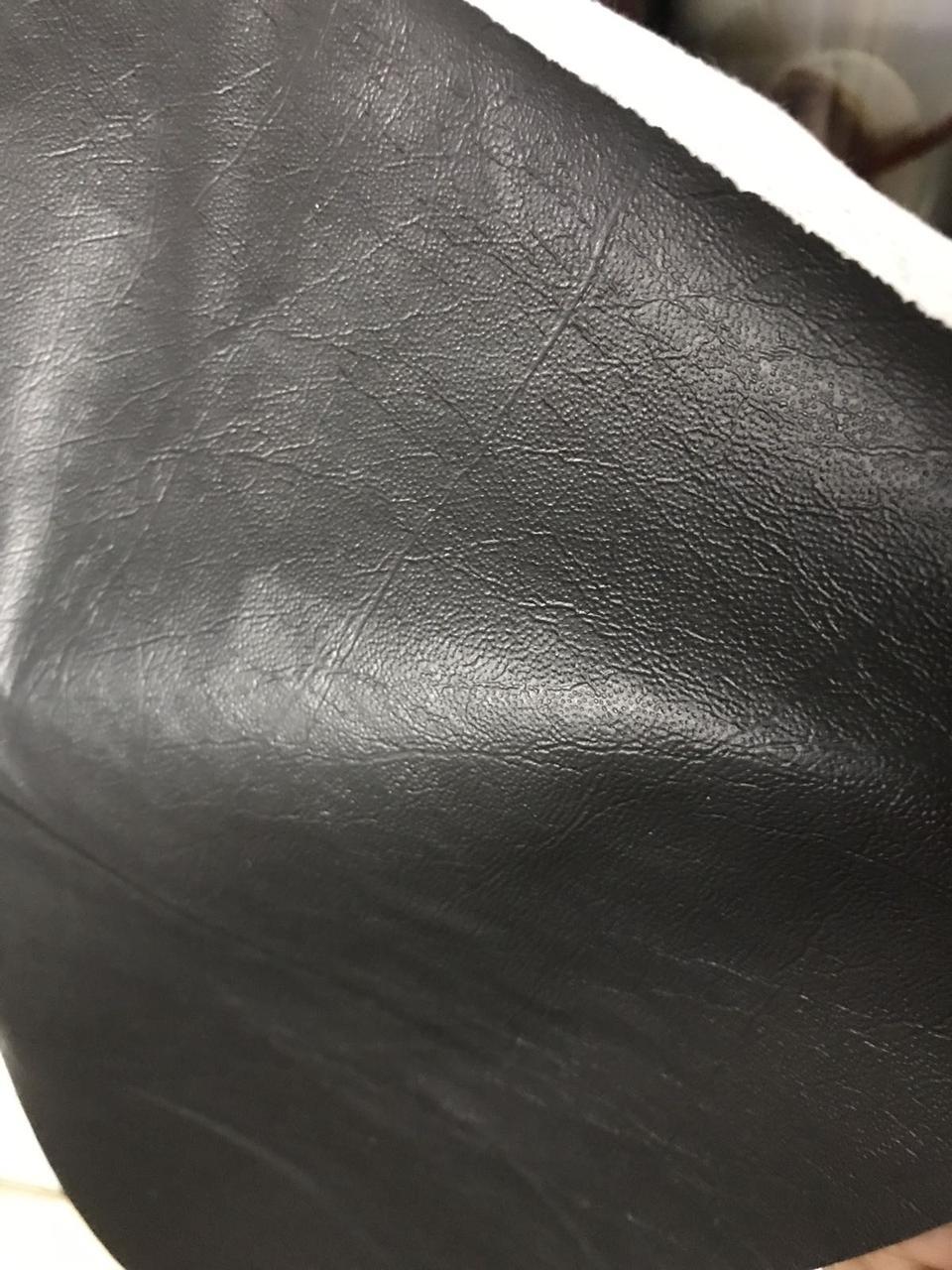 Дерматин(кож.зам) на метраж гладкий ширина 1м Черный