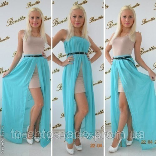 Съемная юбка на платье шифоновая