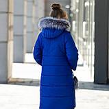 """Красивая с меховой отделкой зимняя курточка для девочки""""Фенди"""", фото 3"""