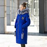 """Красивая с меховой отделкой зимняя курточка для девочки""""Фенди"""", фото 5"""
