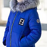 """Красивая с меховой отделкой зимняя курточка для девочки""""Фенди"""", фото 2"""