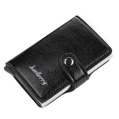 Картхолдер Кредитница с Зажимом для Купюр Baellerry (K9110) Защита от Считывания RFID Черный