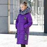 """Красивая с меховой отделкой зимняя курточка для девочки""""Фенди"""", фото 4"""