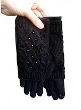 Перчатки женские сенсорные черные Размер 6,5