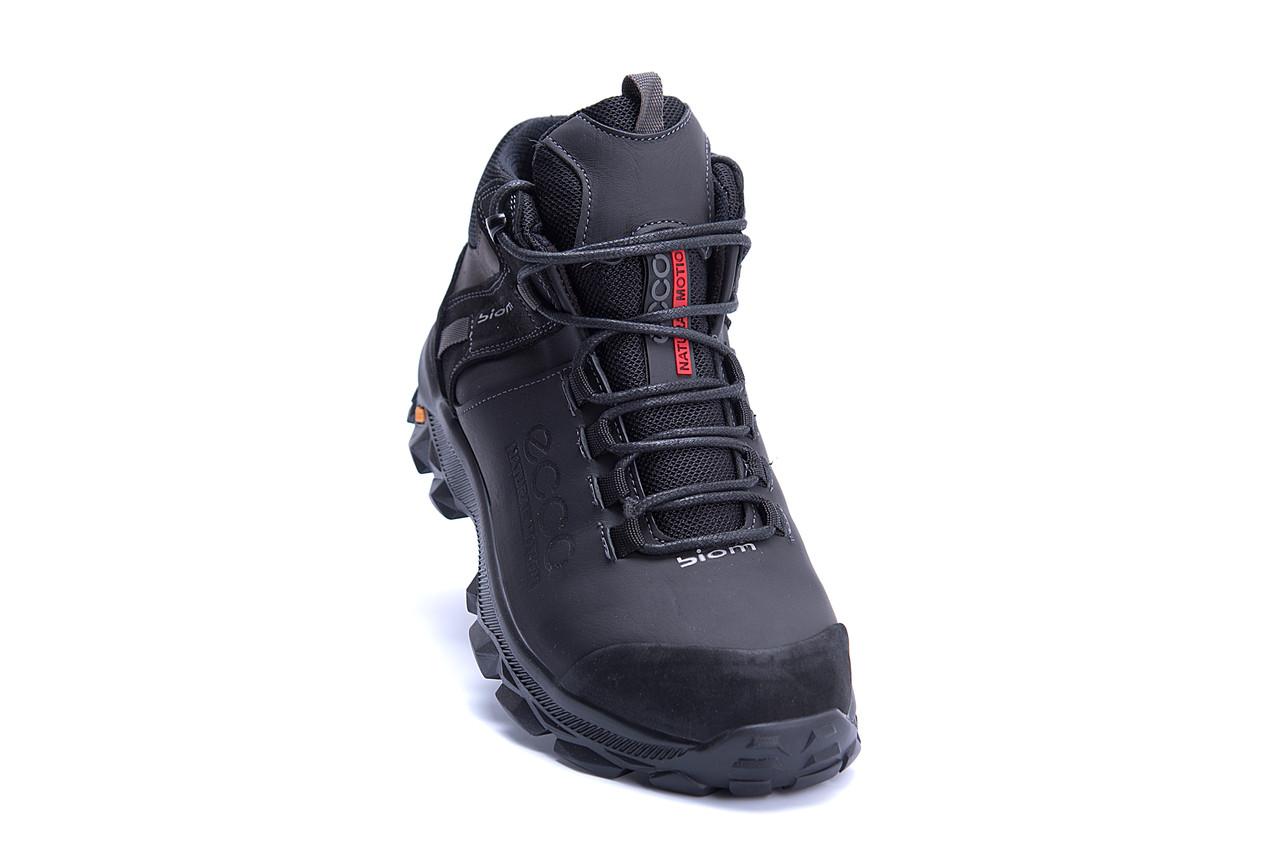 Мужские зимние кожаные ботинки Ecco biom  (реплика) 2