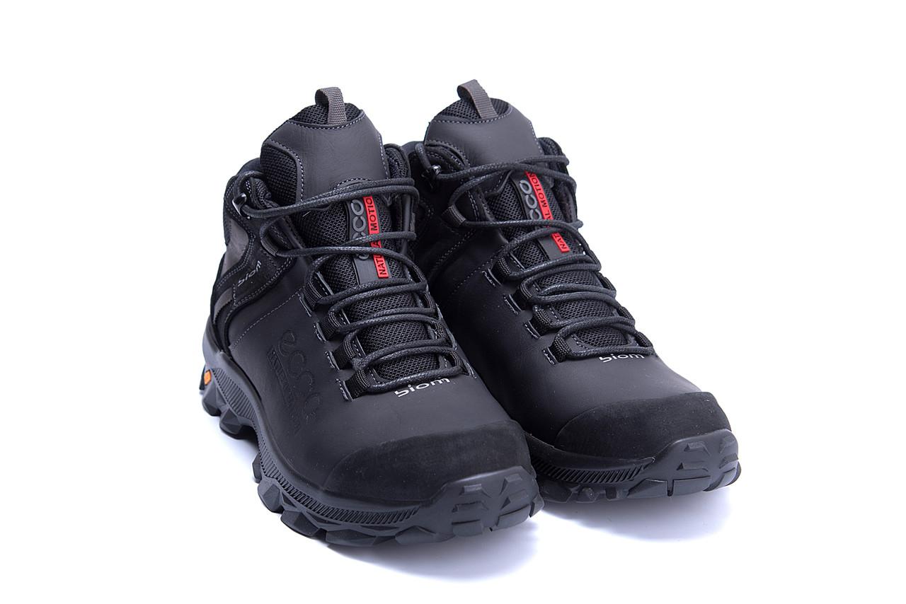 Мужские зимние кожаные ботинки Ecco biom  (реплика) 3