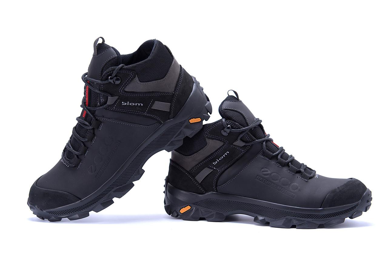 Мужские зимние кожаные ботинки Ecco biom  (реплика) 4